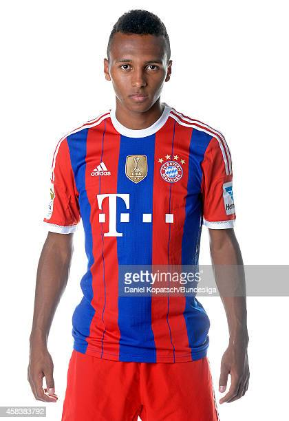 Julian Green poses during the FC Bayern Muenchen Team Presentation for DFL on August 9 2014 in Munich Germany