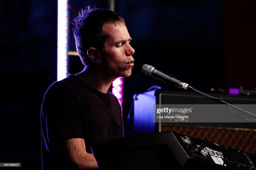 Julian Hamilton of 'The Presets' performs at the 'Music for