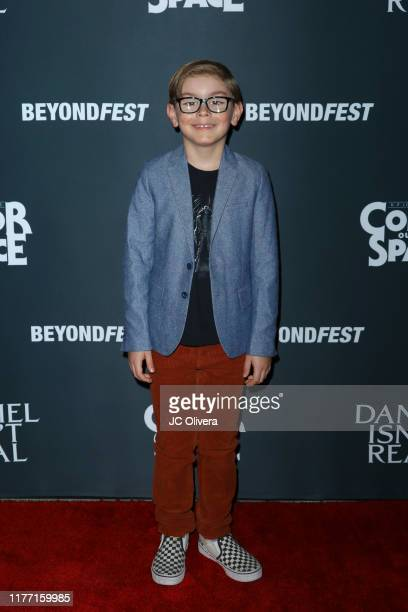 Julian Hilliard attends the 2019 Beyond Fest opening night premieres of 'Color Out Of Space' and 'Daniel Isn't Real' at the Egyptian Theatre on...