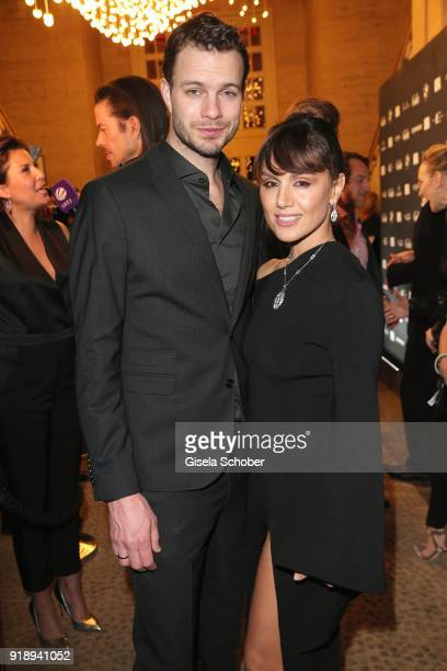 Julian Khol and his wife Nazan Eckes during the Berlin Opening Night by GALA and UFA Fiction at Das Stue on February 15, 2018 in Berlin, Germany.