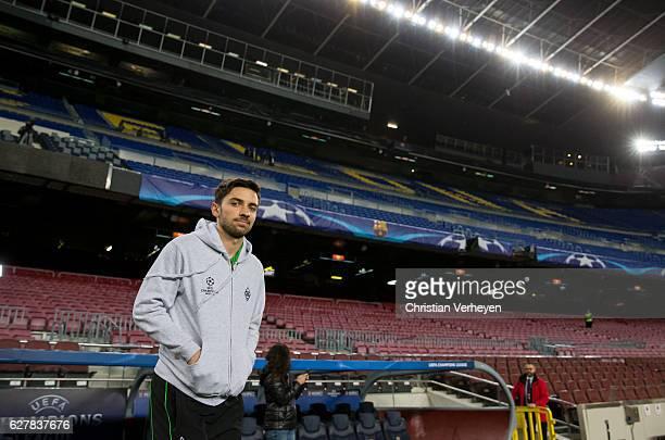 Julian Korb of Borussia Moenchengladbach ahead a training session of Borussia Moenchengladbach at Camp Nou on December 05 2016 in Barcelona Spain
