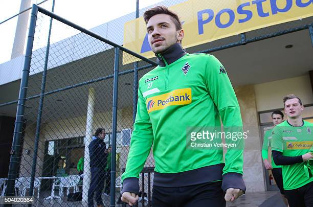 Julian Korb of Borussia Moenchengladbach during a training session at day 2 of Borussia Moenchengladbach training camp on January 08 2016 in Belek...