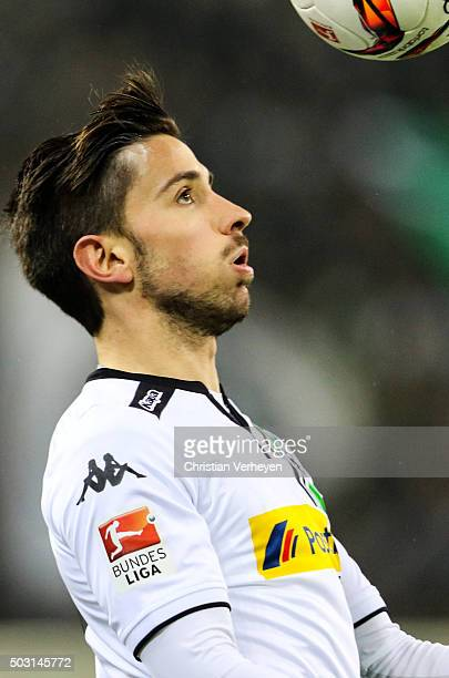Julian Korb of Borussia Moenchengladbach during the Bundesliga match between Borussia Moenchengladbach and SV Darmstadt 98 at BorussiaPark on...