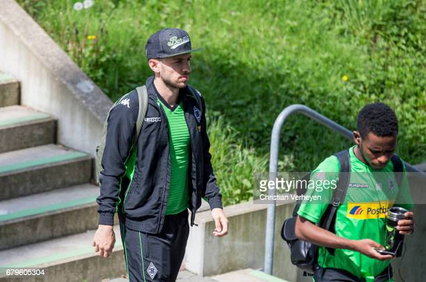 Julian Korb of Borussia Moenchengladbach prior the Bundesliga Match between Borussia Moenchengladbach and FC Augsburg at BorussiaPark on May 06 2017...