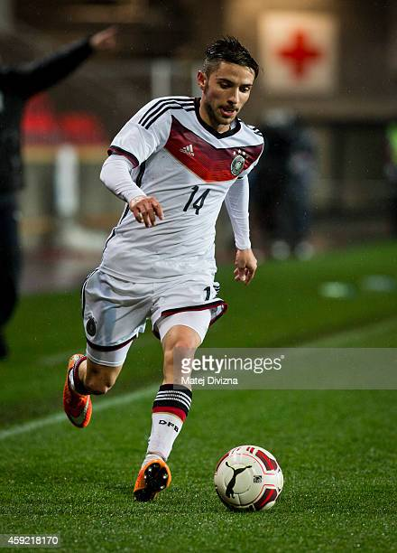 Julian Korb of Germany in action during the international friendly match between U21 Czech Republic and U21 Germany on November 18 2014 in Prague...