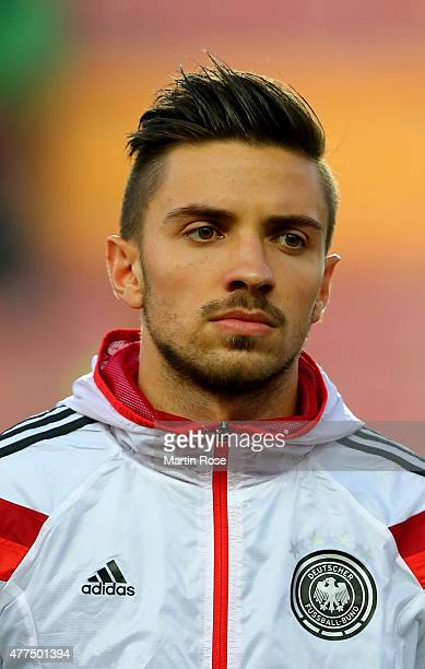 Julian Korb of Germany looks on before the UEFA European Under21 Group A match between Germany and Serbia at Letna Stadium on June 17 2015 in Prague...