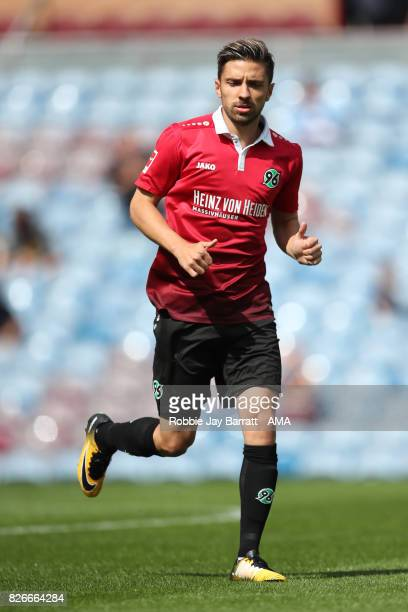 Julian Korb of Hannover 96 during the PreSeason Friendly between Burnley and Hannover 96 at Turf Moor on August 5 2017 in Burnley England