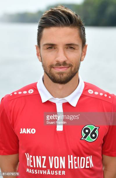 Julian Korb of Hannover 96 poses during the team presentation at on July 14 2017 in Hanover Germany