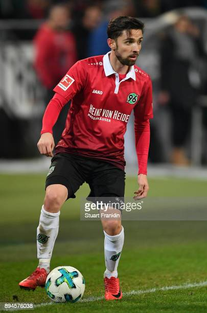 Julian Korb of Hannover in action during the Bundesliga match between Hannover 96 and Bayer 04 Leverkusen at HDIArena on December 17 2017 in Hanover...