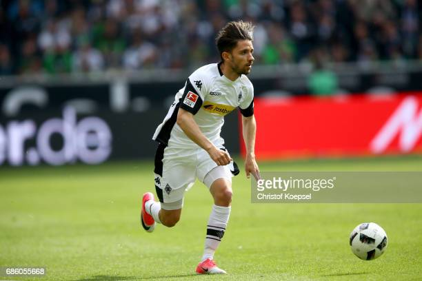 Julian Korb of Moenchengladbach runs with the ball during the Bundesliga match between Borussia Moenchengladbach and SV Darmstadt 98 at BorussiaPark...