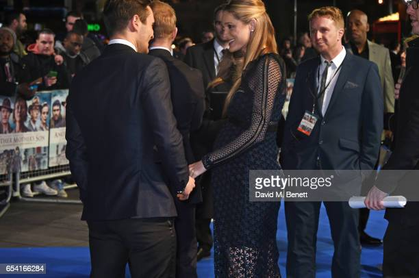 Julian Kostov and Storm Keating attend the World Premiere of 'Another Mother's Son' on March 16 2017 in London England