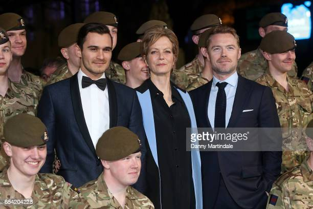 Julian Kostov Jenny Seagrove and Ronan Keating attend the World Premiere of 'Another Mother's Son' on March 16 2017 in London England