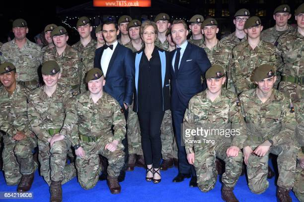 Julian Kostov Jenny Seagrove and Ronan Keating attend the World Premiere of 'Another Mother's Son' at the Odeon Leicester Square on March 16 2017 in...
