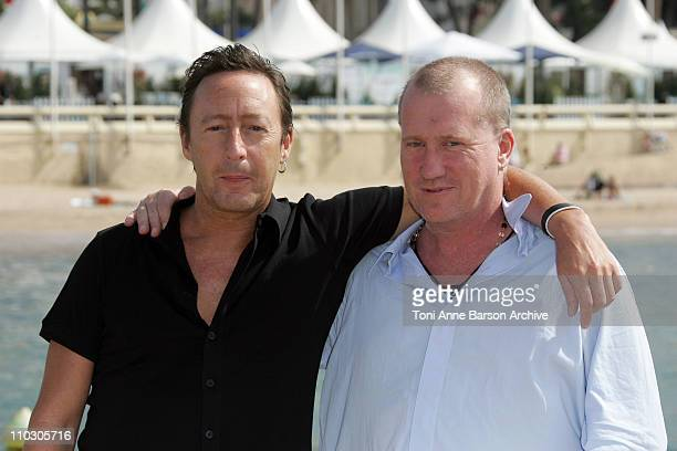 Julian Lennon and Kim Kindersley during 2007 Cannes Film Festival Whale Dreamers Photocall at Majestic Pier in Cannes France