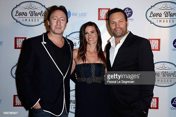 Julian Lennon and Lucie Laurier attend the Lova World Images Closing Party during the 66th Annual Cannes Film Festival at Baoli Beach on May 22 2013...