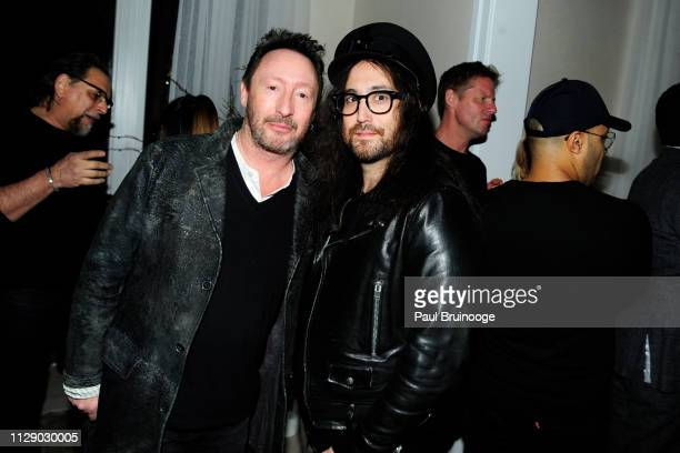 Julian Lennon and Sean Lennon attend The Cinema Society With Synchrony Bank And FIJI Water Host The After Party For Marvel Studios' Captain Marvel at...
