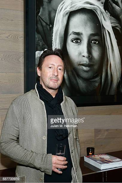 Julian Lennon attends his photo exhibition during the PHOTO HOUSE opening on June 2 2016 in Brussels Belgium