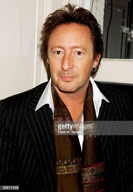 Julian Lennon attends the book launch party celebrating the launch of John a biography of John Lennon by Cynthia Lennon his firstwife at Fitzroy...