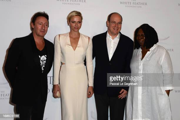 Julian Lennon Princess Charlene of Monaco Prince Albert II of Monaco and Whoopi Goldberg arrive at The White Feather Foundation Charity Ball 2013 at...