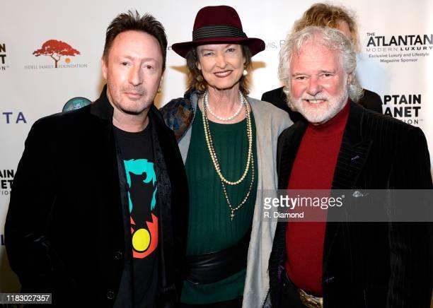 Julian Lennon Rose Lane Leavell and Rolling Stones Keyboardist/Honoree Chuck Leavell attend 2019 Captain Planet Foundation Gala at Flourish Atlanta...