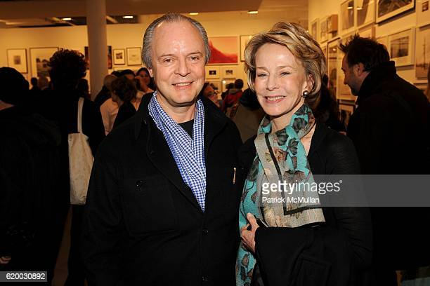 Julian Lethbridge and Anne Bass attend Photographic Works to Benefit the Foundation for Contemporary Arts at Cohan Leslie on December 11 2008 in New...