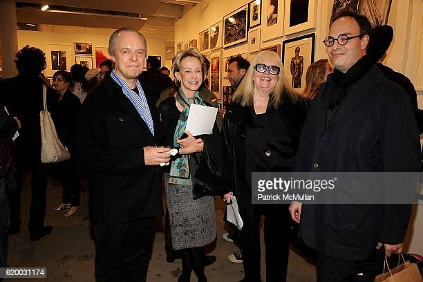 Julian Lethbridge Anne Bass Jan Hashey and Matthew Marks attend Photographic Works to Benefit the Foundation for Contemporary Arts at Cohan Leslie on...