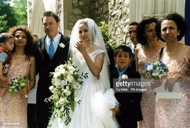 Julian Lloyd Webber and Kheira Bourahla at their wedding in Kensington, London. The 50-year cellist and brother of millionaire composer Andrew, was...