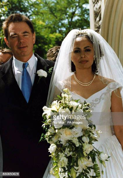 Julian Lloyd Webber and Kheira Bourahla at their wedding in Kensington London The 50year cellist and brother of millionaire composer Andrew was...