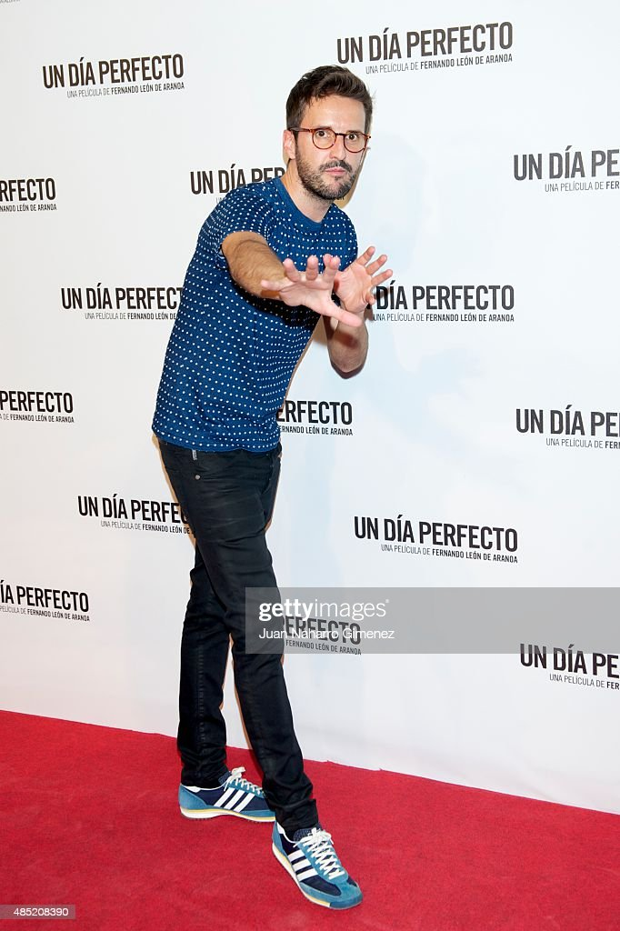 Julian Lopez attends 'Un Dia Perfecto' premiere at Palafox Cinema on August 25, 2015 in Madrid, Spain.