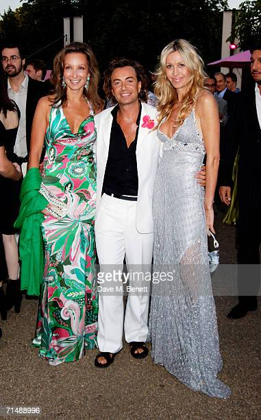 Julian Macdonald with Melissa Odabash and guest attend The Serpentine Gallery Summer Party at the Serpentine Gallery on July 11 2006 in London England