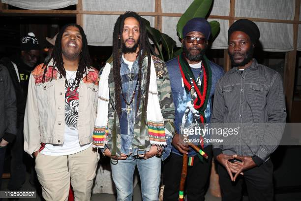 Julian Marley and band attend Primary Wave x Island Records Presented By Mastercard at 1 Hotel West Hollywood on January 23, 2020 in West Hollywood,...