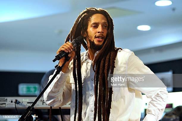 Julian Marley performs at HMV, Oxford Street on October 27, 2011 in London, United Kingdom.