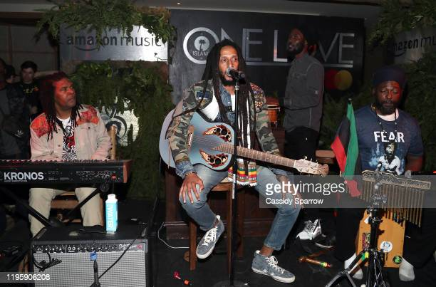 Julian Marley Performs at Primary Wave x Island Records Presented By Mastercard at 1 Hotel West Hollywood on January 23, 2020 in West Hollywood,...