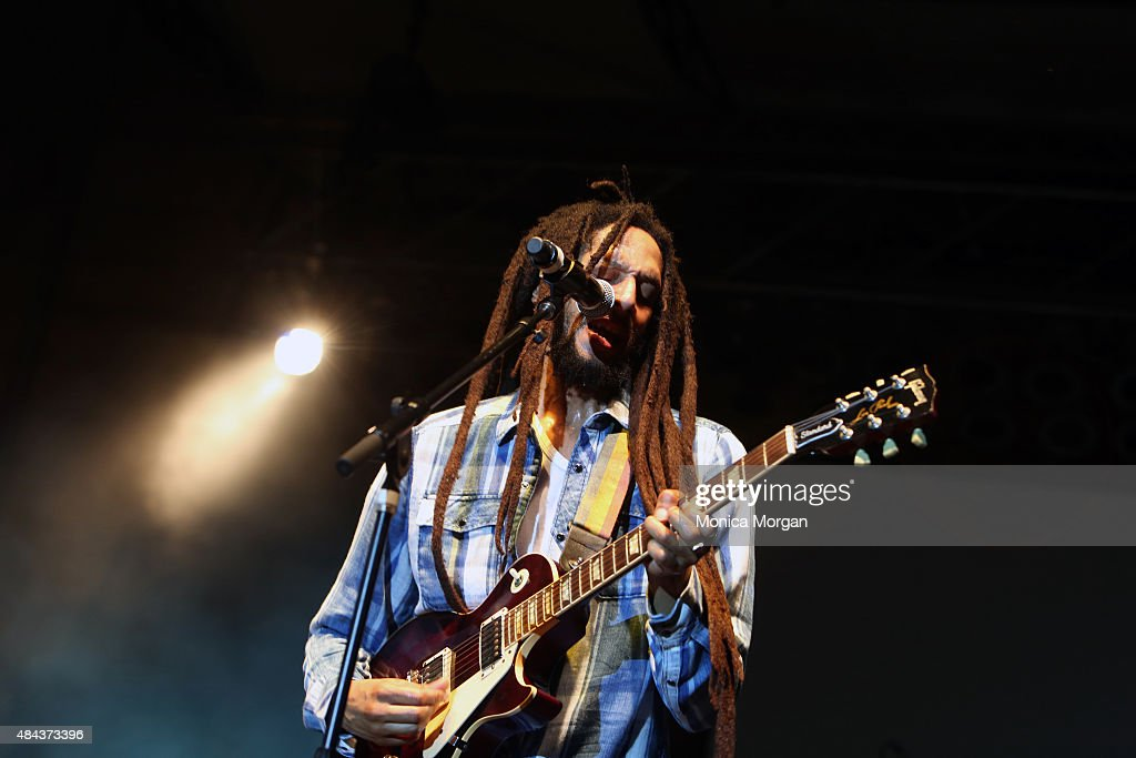 Julian Marley performs at the 2015 African World Festival at Charles H. Wright Museum of African American History on August 16, 2015 in Detroit, Michigan.