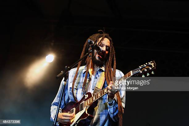 Julian Marley performs at the 2015 African World Festival at Charles H. Wright Museum of African American History on August 16, 2015 in Detroit,...