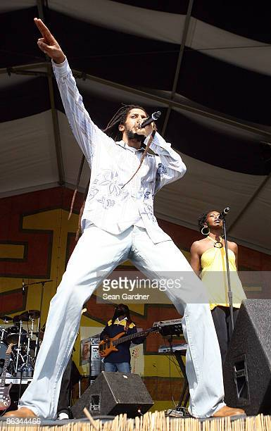 Julian Marley performs during the 40th Annual New Orleans Jazz & Heritage Festival Presented by Shell at the Fair Grounds Race Course on May 1, 2009...