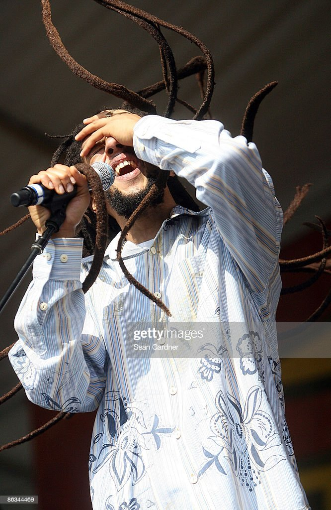 Julian Marley performs during the 40th Annual New Orleans Jazz & Heritage Festival Presented by Shell at the Fair Grounds Race Course on May 1, 2009 in New Orleans.