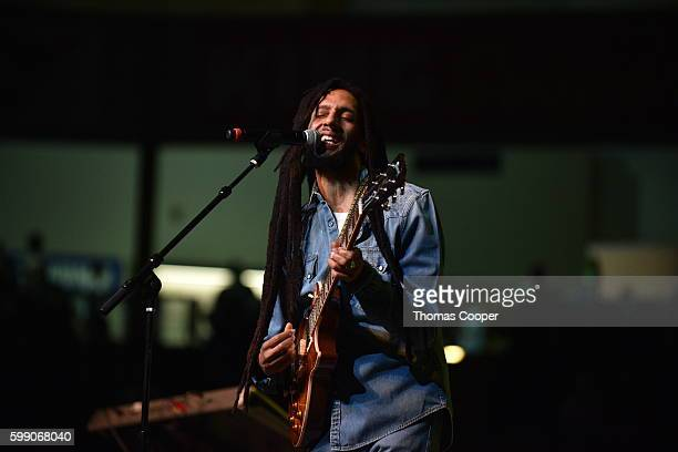 Julian Marley performs for fans at Riot Fest at the National Western Complex on September 3, 2016 in Denver, Colorado.