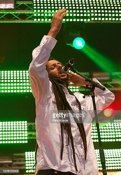 Julian Marley performs on day 4 at the 40th Roskilde Festival on July 4, 2010 in Roskilde, Denmark.