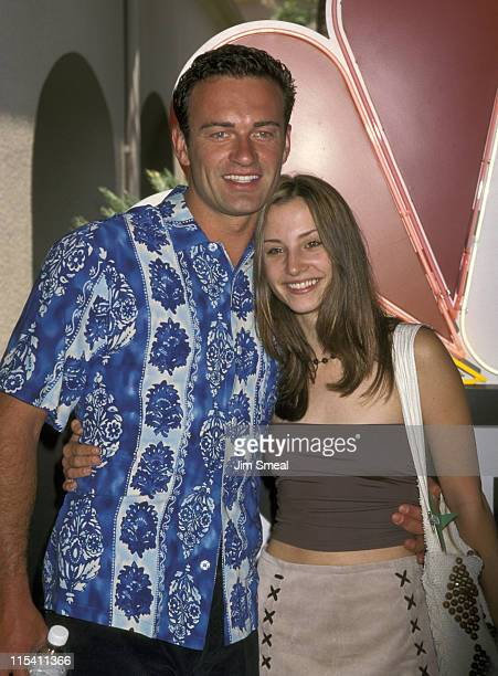 Julian McMahon and Heather McComb during NBC Network 1997 TCA Summer Press Tour at Ritz Carlton Hotel in Pasadena California United States