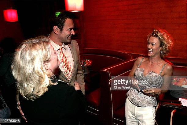 Julian McMahon and Kelly Carlson during Nip/Tuck Season 2 Premiere Afterparty at The Forbidden City in Los Angeles California United States