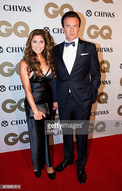 Julian McMahon and Kelly Paniagua attends the GQ Men of The Year 2016 Awards on November 16 2016 in Sydney Australia