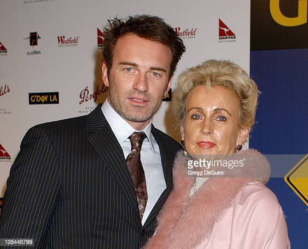 Julian McMahon and mom Lady Sonia McMahon during 2nd Annual Penfolds Gala Black Tie Dinner Arrivals at Century Plaza Hotel in Century City California...