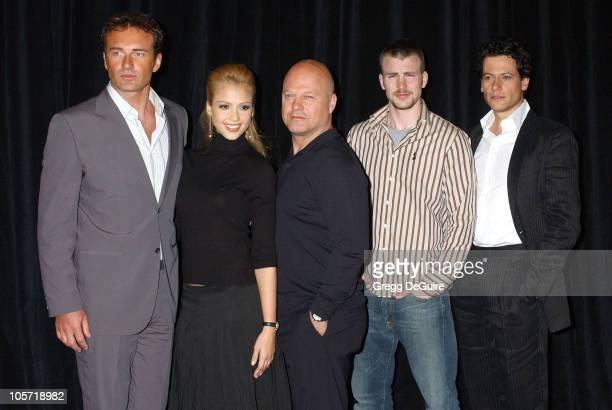 Julian McMahon Jessica Alba Michael Chiklis Chris Evans and Ioan Gruffud of 'Fantastic Four'