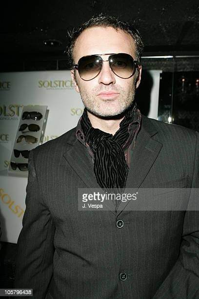 5cae2970e95 Julian McMahon wearing Gucci 1827S sunglasses during Solstice Sunglass  Boutique Century City Store Opening Party Inside