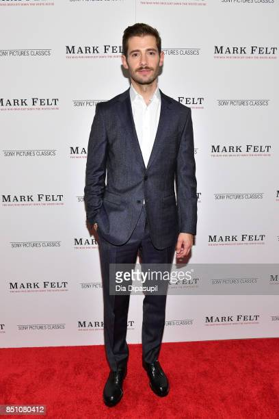 Julian Morris attends the 'Mark Felt The Man Who Brought Down the White House' New York premiere at The Whitby Hotel on September 21 2017 in New York...