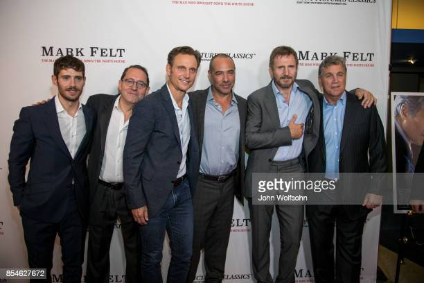 Julian Morris Michael Barker Tony Goldwyn Peter Landesman Liam Neeson and Tom Bernard attend the premiere of Sony Pictures Classics' 'Mark Felt The...