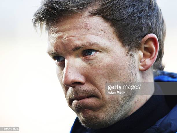 Julian Nagelsmann head coach of 1899 Hoffenheim before the Bundesliga match between FC Augsburg and TSG 1899 Hoffenheim at WWK Arena on January 21...