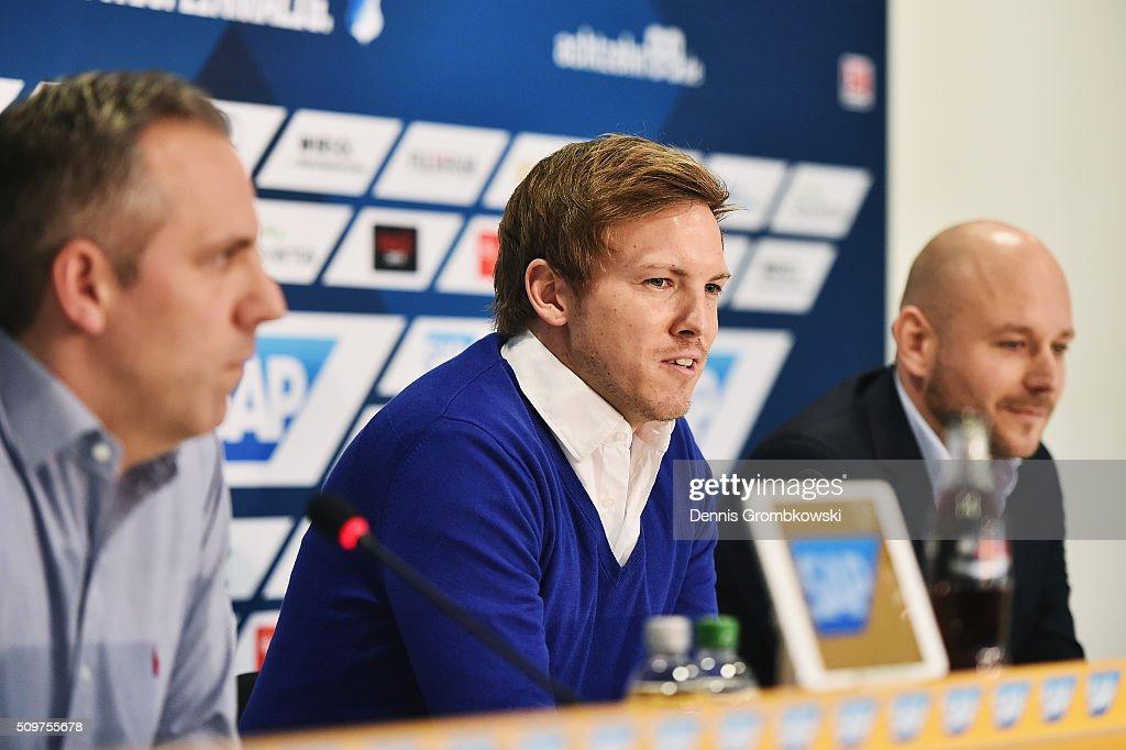 1899 Hoffenheim Unveils New Head Coach Julian Nagelsmann : News Photo