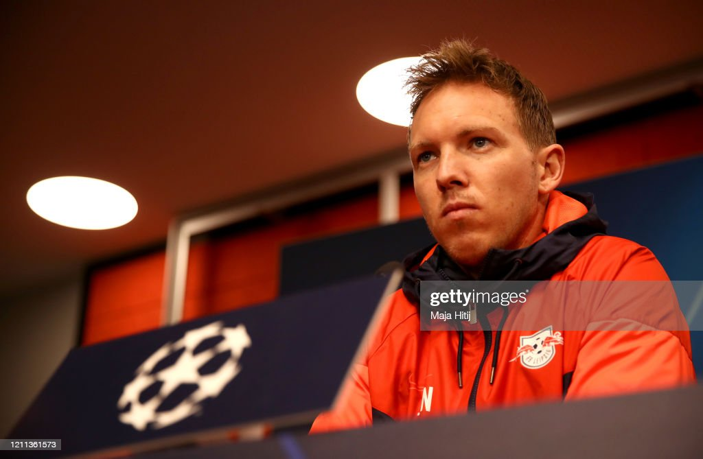 RB Leipzig Press Conference And Training Session : News Photo